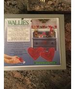 Heart Wallies Wallpaper Cutouts #12916 Folk Art Red Heart Wallies - $10.00