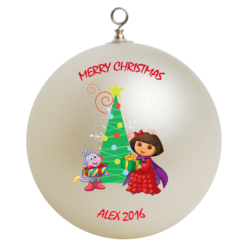 Personalized Dora the Explorer Christmas Ornament Gift #3