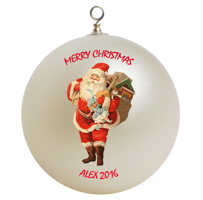 Personalized Santa Claus Christmas Ornament Gift