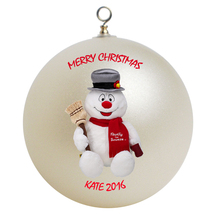 Personalized Frosty the Snowman Christmas Ornament Gift #2 - $24.95