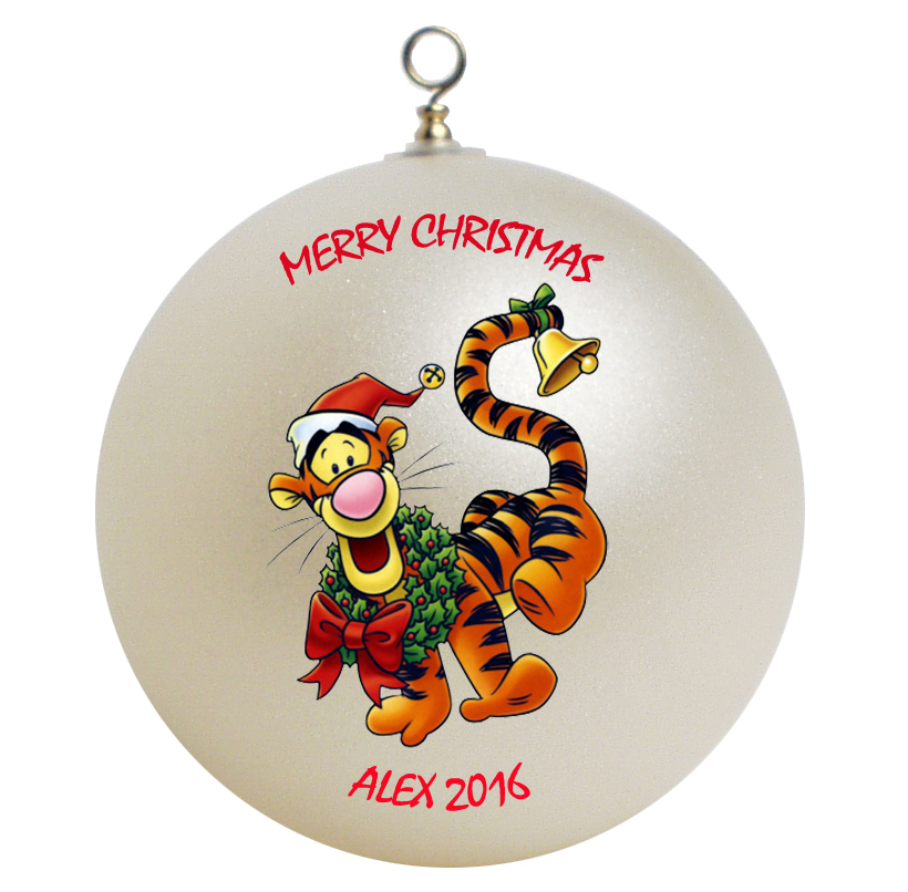 Personalized Winnie the Pooh Tigger Christmas Ornament Gift #2