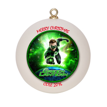 Personalized Green Lantern Christmas Ornament Gift - $16.95