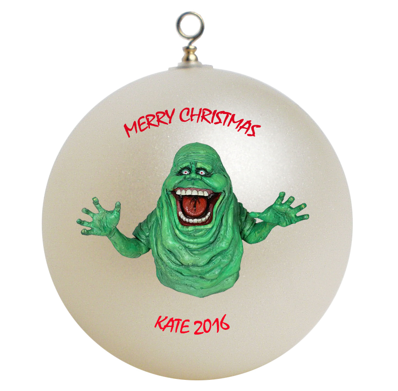 Personalized Ghostbusters Slimer Christmas Ornament Gift ...