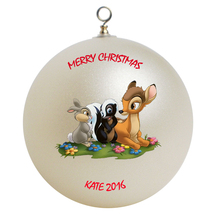 Personalized Bambi and Friends Christmas Ornament Gift - $24.95