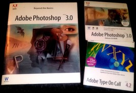 ADOBE PHOTOSHOP 3.0 & TYPE ON CALL 4.2 PLUS MANUAL - $19.99