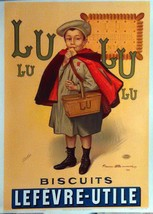 Lu Lu Biscuits by Firmin Bouisset Vintage Ad - ... - $149.99