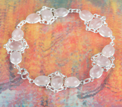 Amazing 925 Rose Quartz Gemstone Sterling Silve... - $23.99