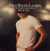2 Genuine Polo Ralph Lauren Mens 6 Xl 100% Cotton White Crew T Shirts Undershirts - $39.59