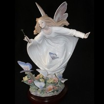 LLADRO #1850 FAIRY OF THE BUTTERFLIES BNIB FLOWER LIMITED ED. RARE FREE ... - $3,415.50
