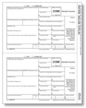 IRS Approved 1099-INT Copy C Tax Form - $14.50+