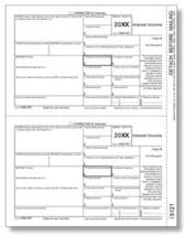 IRS Approved 1099-INT Copy B Tax Form - $14.50+
