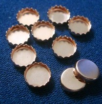 Bezel cups copper 6mm round machine made serrated edge 10 bezel cups bc024 - $2.98