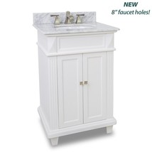 ELEMENTS VANITY WITH PREASSEMBLED WHITE MARBLE TOP AND BOWL VAN094-T-MW NEW - $789.00