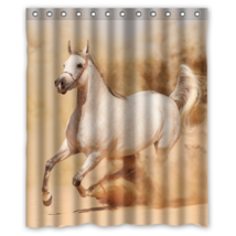 Running Horse Dust Sand #01  Shower Curtain Waterproof Made From Polyester - $31.26+