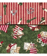 All Hearts Christmas Quilt Cotton Fabric, Ginge... - $13.48