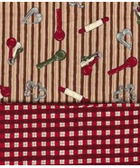 2 FQ All Hearts Christmas Red Plaid, Cookie Cut... - $13.48