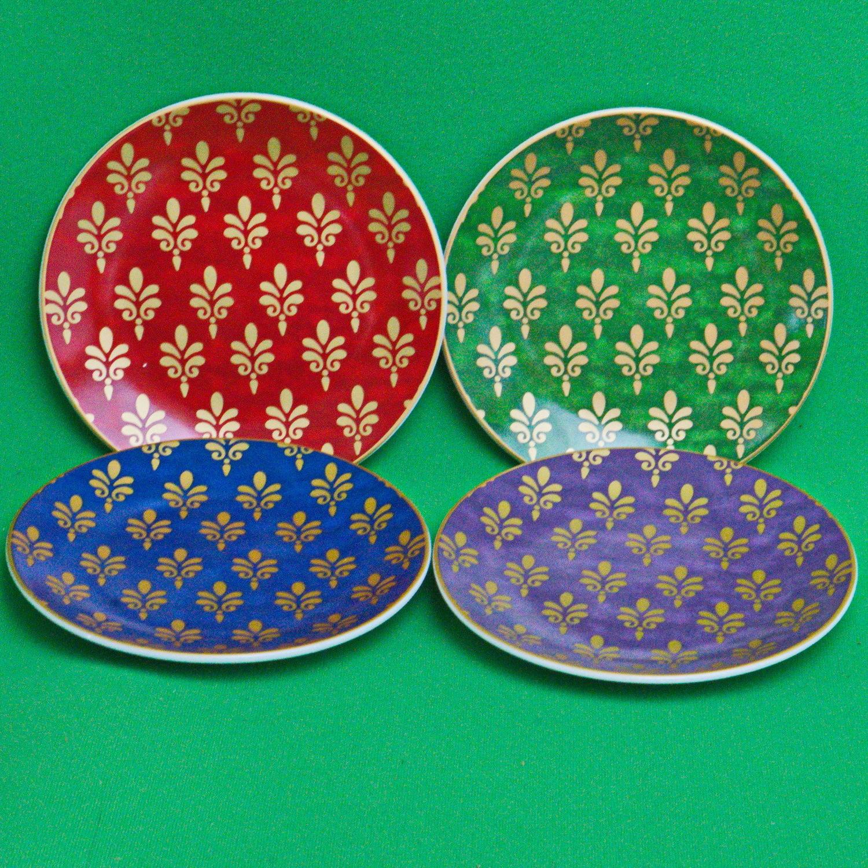 Set Of 4 Pier 1 Imports Assorted 6  Porcelain Appetizer Plates In Original Box  sc 1 st  Bonanza & Set Of 4 Pier 1 Imports Assorted 6