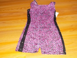 Size Small 6-7 Jacques Moret Dance Gymnastics Unitard Leotard Pink Black... - $16.00