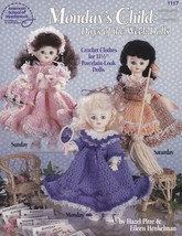 Monday's Child - Days of the Week Dolls, Crochet Doll Clothes Pattern ASN 1117 - $5.95