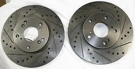 Drilled Slotted Rotors 31257 Fits 1998-2012 Honda Accord Front - $100.00