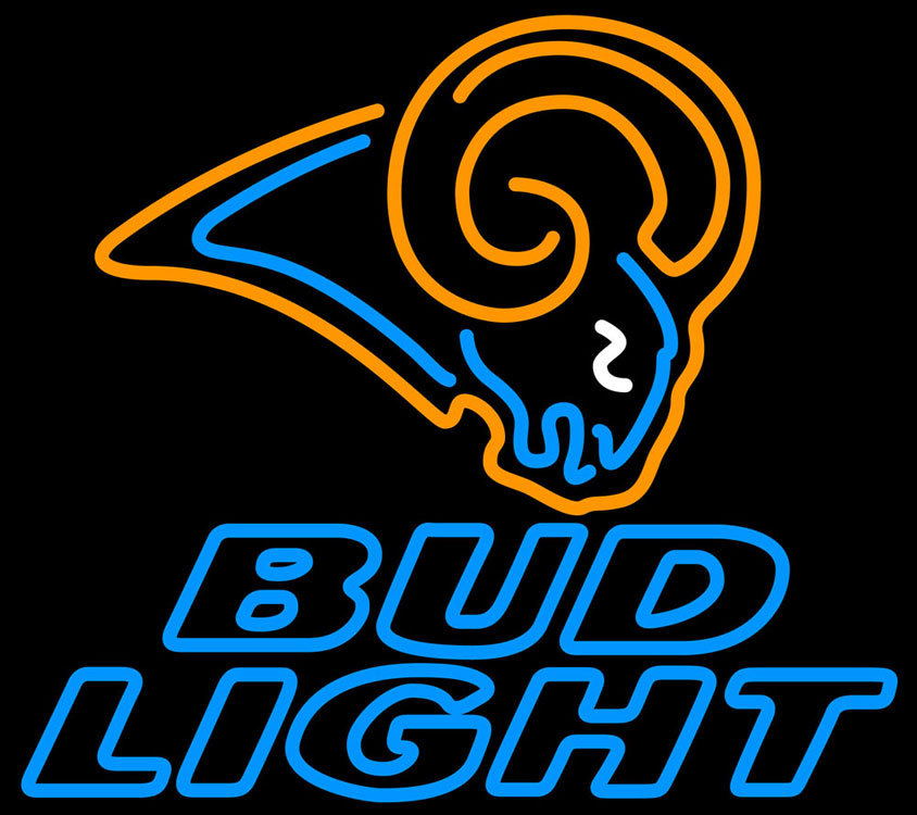 Nfl bud light st louis rams neon sign 16  x 16