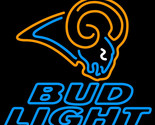 Nfl bud light st louis rams neon sign 16  x 16  thumb155 crop