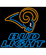 Nfl bud light st louis rams neon sign 16  x 16  thumbtall