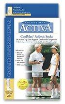 Activa COOLMAX Athletic Over The Calf Socks, White, Medium - $20.99
