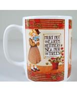 "Mary Engelbreit Coffee Mug ""HURT NOT THE EARTH"" ME Ink REVELATIONS 7:3 - $19.79"