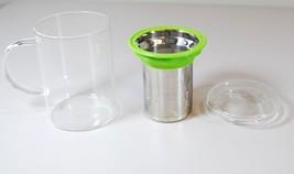 Teavana Mug - Remi Glass Infuser - Silicone Lip Cup & Glass Lid - $19.79