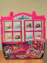 Gift'ems Hotel & Spa Playset New 9 pieces Carry Case - $19.24