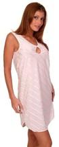 Pink Sleep Shirt Short Gown Keyhole Opening 1X - $16.98