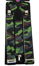 "Mens Unisex Clip-on Braces Elastic Wide ""Camouflage"" Y Back Suspender - $3.95"