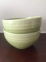 Hausenware Ripple Edge Set of 2 Green Ceramic Cereal Bowl - $14.89