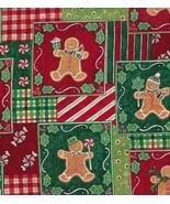Susan Winget Gingerbread Men Patchwork, Holiday... - $24.77
