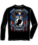 POW MIA- HEROES-  LICENSED LONG SLEEVE T Shirt PATRIOTIC USA - $24.99