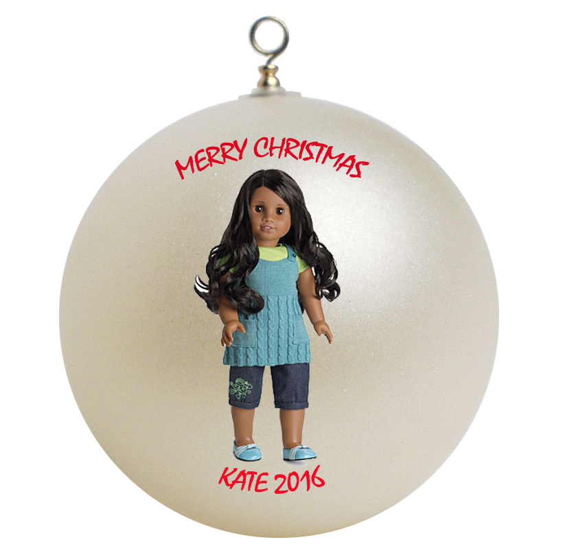 Personalized American Girl Sonali Christmas Ornament Gift