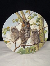 Long-Eared Owl 3rd Issue in Under Mother's Wing by Knowles Collector Plate - $9.89