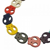 Howlite Color Skulls Lot of 10 pcs for Jewellery and Crafts - $2.48