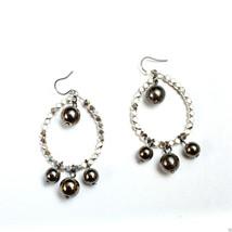 """Liz Claiborne Silvertone Surgical Steel Earwire Pierced Earrings NEW 2 1/4""""  - $9.99"""