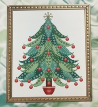 Kitty & Me Designs Cross Stitch Patterns Colorful Christmas Trees 3 Colors  - $10.95