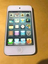 "Apple iPod Touch 4th Gen MD057LL/A A1367 3.5"" 8GB White & Chrome - $27.93"