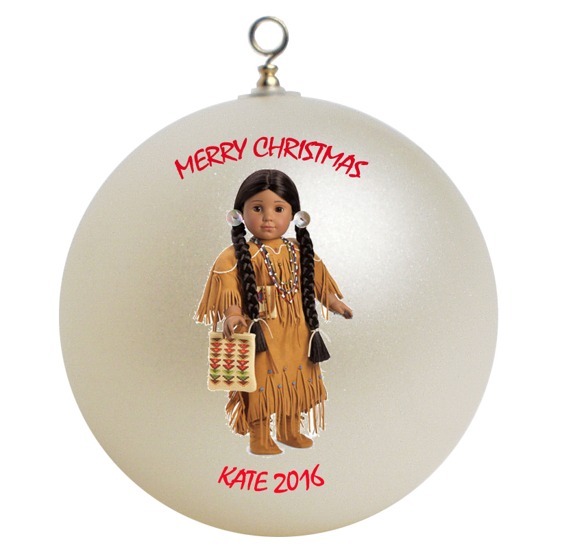 Personalized American Girl Kaya Christmas Ornament Gift