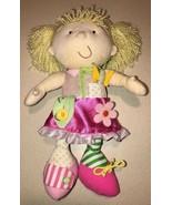 Manhattan Toy Dress Me Pink Blond Doll Zip Tie Flower Plush Girl Soft Toy - $14.99
