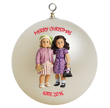 Personalized American Girl Kit & Ruthie Christmas Ornament Gift - $24.95
