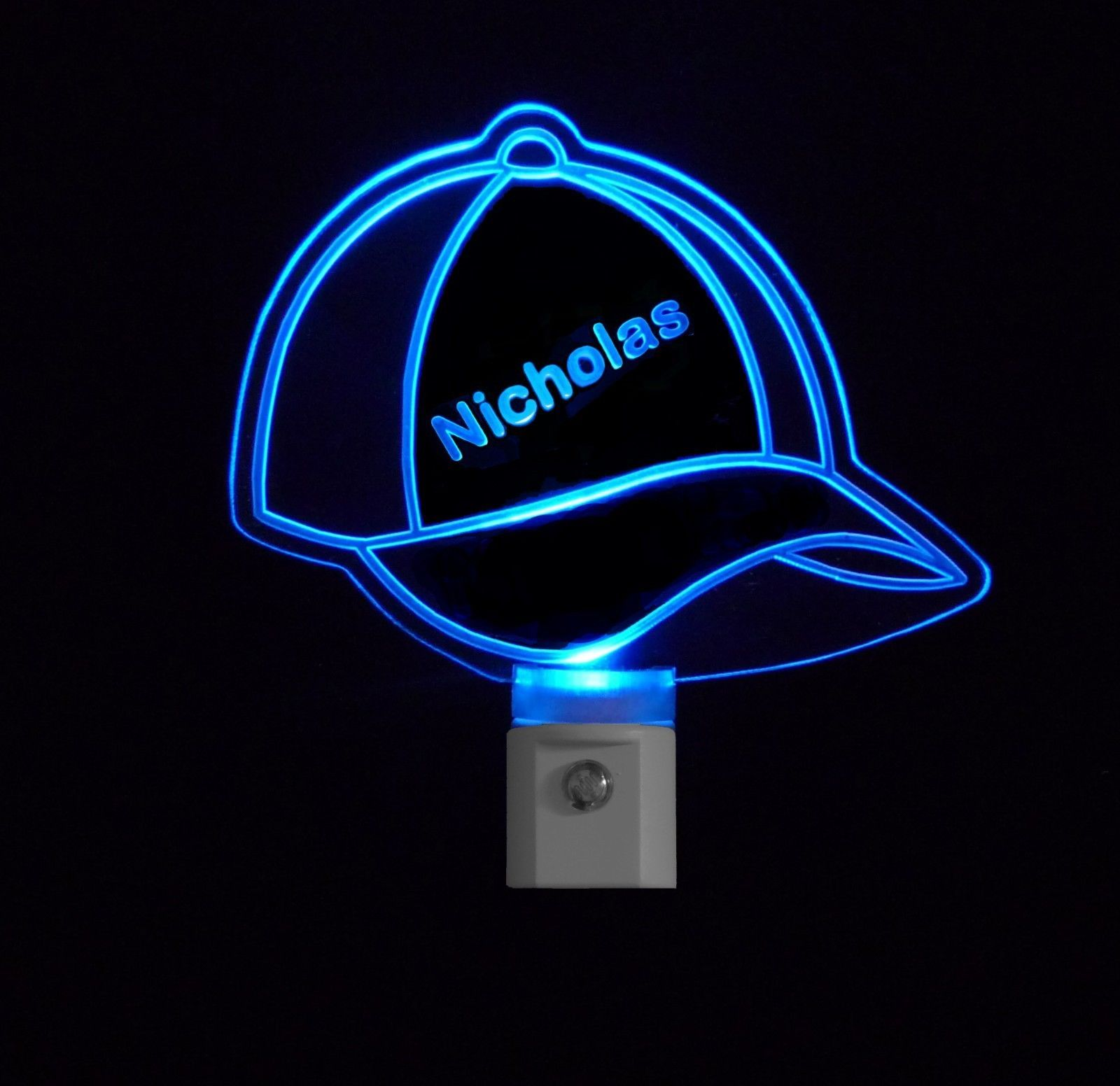 Baseball Cap Personalizd Kids LED Night Light- nightlight ...