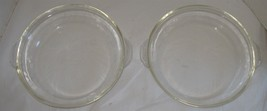 "2 Vintage 9"" Fire-King Anchor Hocking Side Handles Pie Plates Baking Dis... - $18.81"