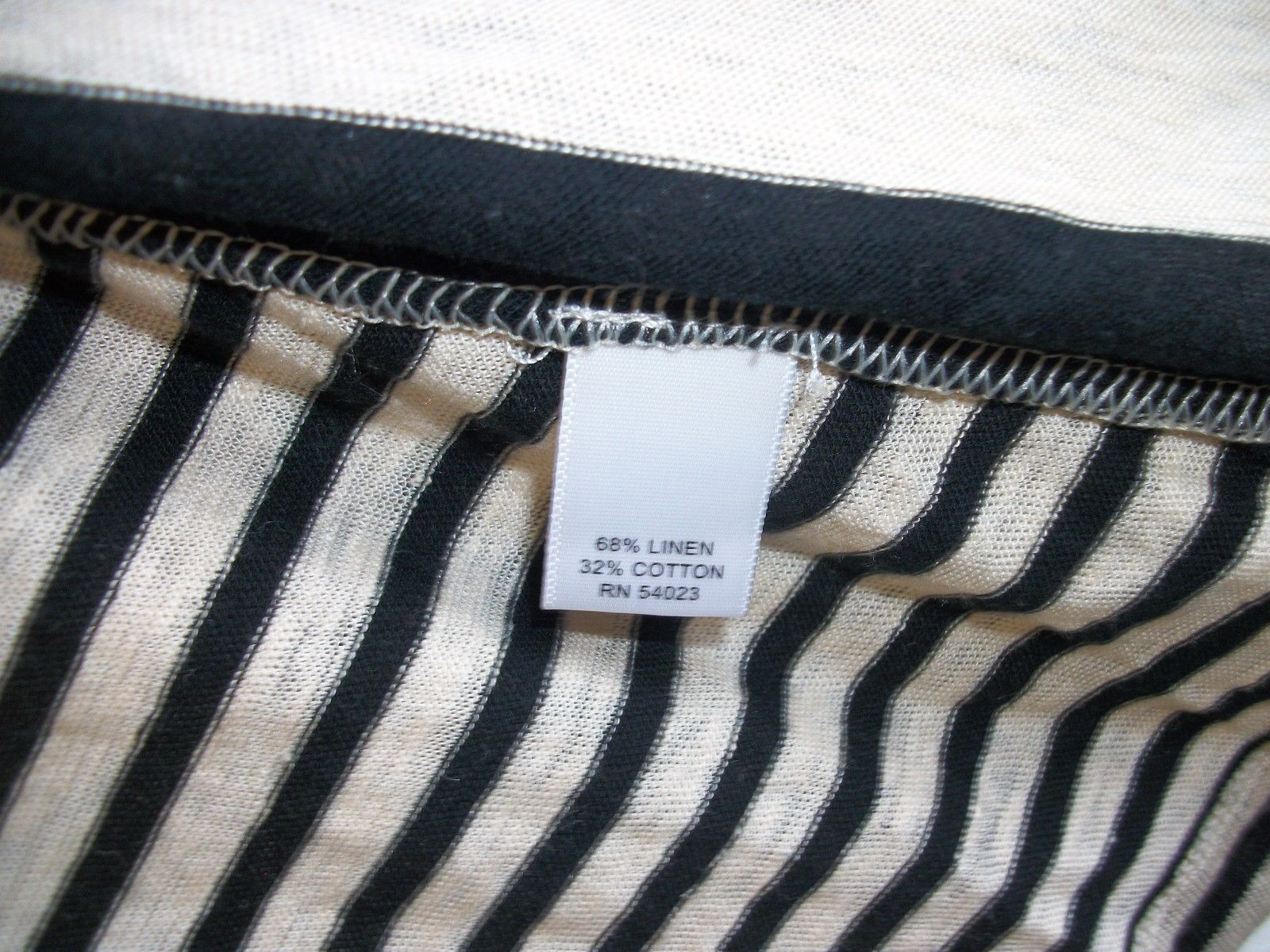 Banana Republic Linen Striped Open Front Cardigan, size S