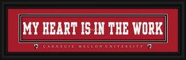 Carnegie Mellon University - 8 x 24 Stitched Jersey Framed Print  - $39.95