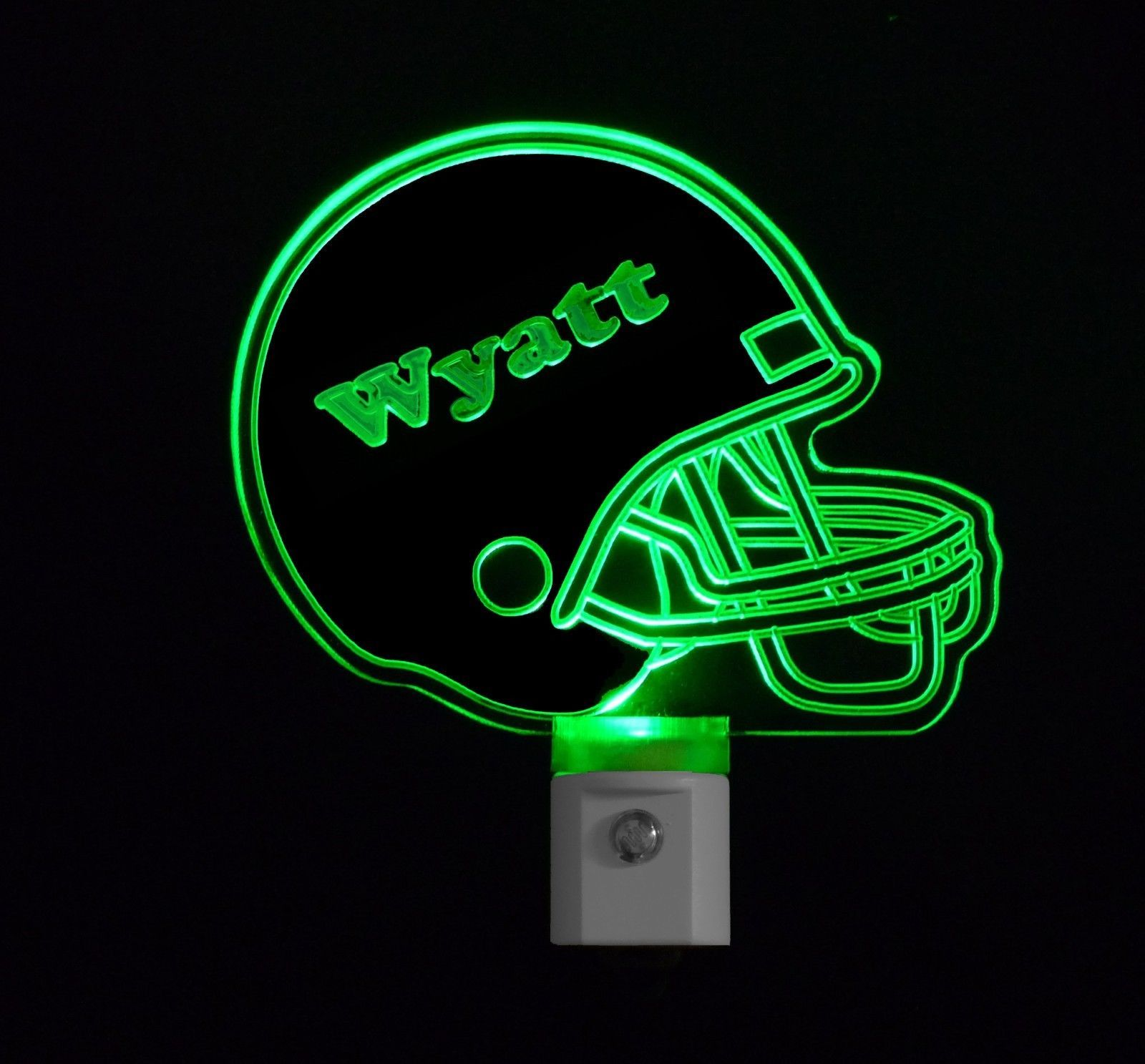 Kids Personalized Custom Football Helmet Led Night Light